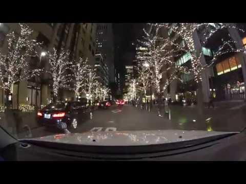 Tokyo night drive illumination 4K 2017 六本木 丸の内