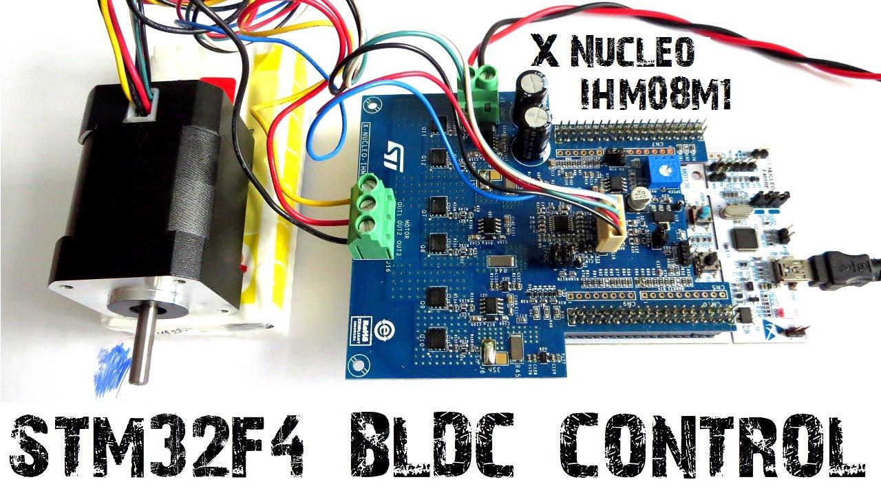 Stm32 Nucleo Bldc Motor X Nucleo Ihm08m1 F401re Youtube