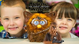 Star Wars The Force Awakens Toys Furbacca | Chewbacca Furby Review by Kinder Playtime