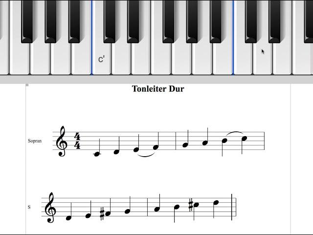 Tonleiter Dur