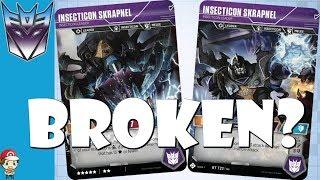 Is Insecticon Skrapnel Broken in the Transformers TCG?