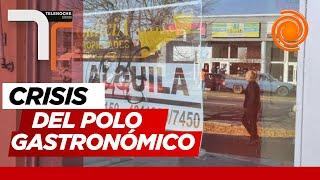 Locales vacíos y ventanas bajas en los comercios en la zona norte de la ciudad de Córdoba