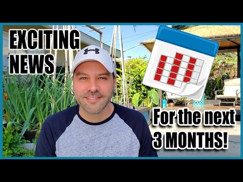Exciting News About The Next 3 Months!!!