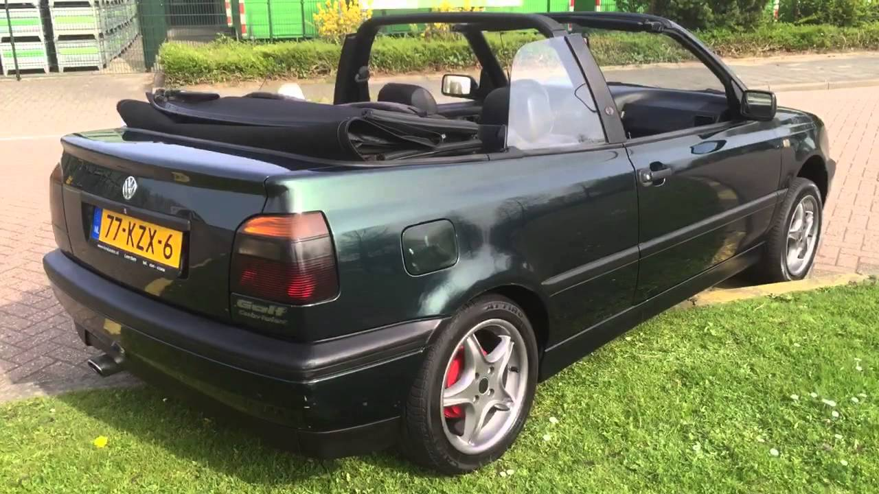 volkswagen golf cabriolet 1996 youtube. Black Bedroom Furniture Sets. Home Design Ideas