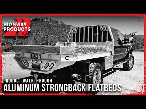 Highway Products | Aluminum Strongback Flatbed