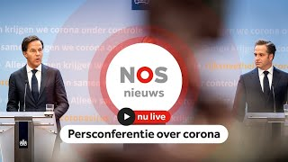 TERUGKIJKEN: Persconferentie Rutte en De Jonge over coronamaatregelen