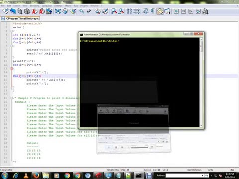 C PROGRAM TO PRINT 3 DIMENSIONAL  ARRAY