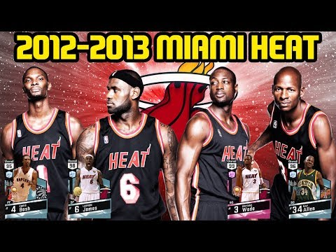2012-2013 MIAMI HEAT! THIS TEAM IS SICK! NBA 2K17 MYTEAM ONLINE GAMEPLAY