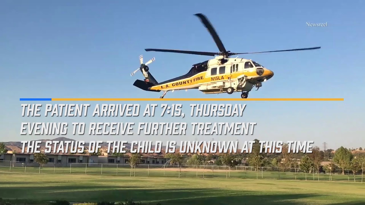 Firefighters Airlift Child From Valencia Pool - KHTS News - Santa Clarita