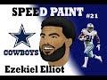 Ezekiel Elliott Cartoon in Photoshop