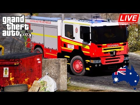GTA 5 - Emergency 000 - Queensland Fire And Rescue City Patrol
