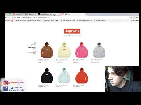 Live cop Supreme Box Logo sweatshirt Week 16 con Bot | (L'avrò presa?)