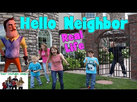 HELLO NEIGHBOR IN REAL LIFE IN A CASTLE / That YouTub3 Family