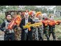 LTT Films : Silver Flash Black Man Nerf Guns Fight Criminal Group Tiger Mask Finish