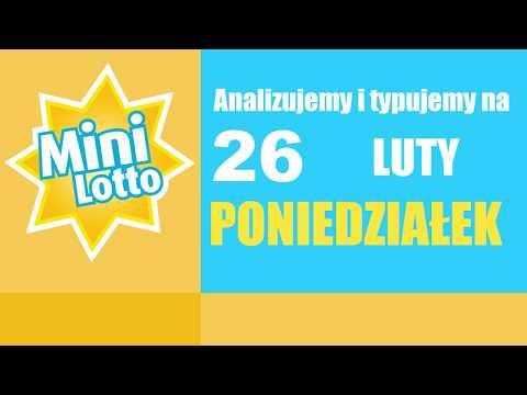 Mini Lotto - Statystyka Oraz Typowanie Na DZISIAJ, 26 Lutego - PONIEDZIAŁEK
