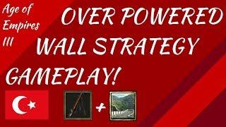 OP Wall Strategy Gameplay! AoE III