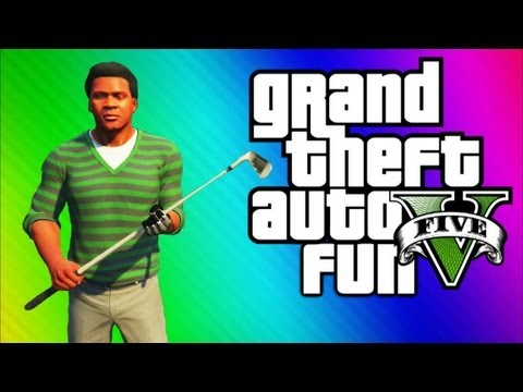 Thumbnail: GTA 5 Funny Moments 2 - Epic Chicken, Golf Cart Chase, Muggers, Jimmy Retard Glitch (GTA 5 Gameplay)