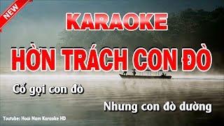 Karaoke Hờn Trách Con Đò -Ton Nam