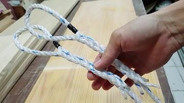 #Rope make  로프 매듭 만들기