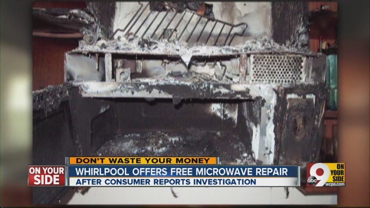 Whirlpool Offers Free Microwave Repair