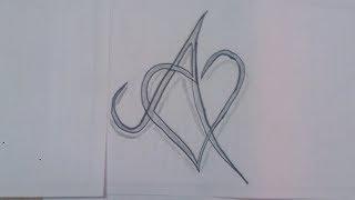 رسم حرف A بطريقه ابداعيه وبسيطه يمكن تنفيذها بسهوله جرب بنفسك Youtube