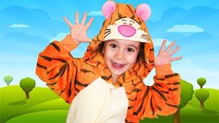 Put Your Hands In The Air | Nursery Rhymes & Songs for Kids| Funny Leyla