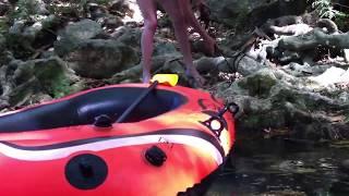 Montpellier Rivière du Lez : descente en bateau gonflable (toubadour excursion)