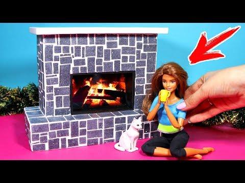 Как сделать камин для кукольного домика своими руками