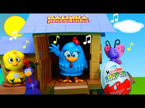 Galinha Pintadinha Galinheiro Musical Brinquedos Surpresas Pintinho Amarelinho Completo