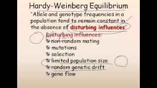 21. Population genetics (Hardy Weinberg equilibrium)