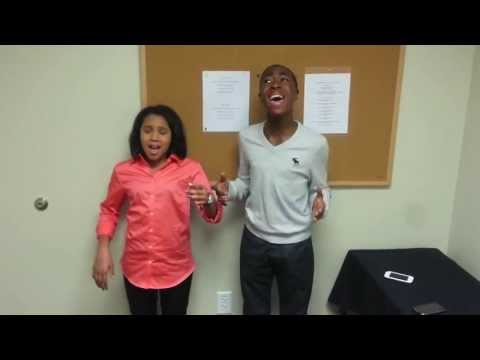 Jayna Brown and Kimani Jackson sing the National Anthem