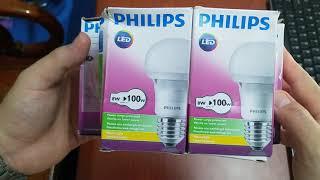 (Shopee) Bóng đèn LED tròn Bubble Philips (bộ 3 bóng 5W và bộ 2 bóng 8W)