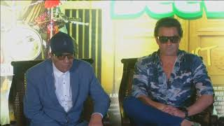 25 Aug, 2018: Bollywood actors promote upcoming action-comedy film in New Delhi