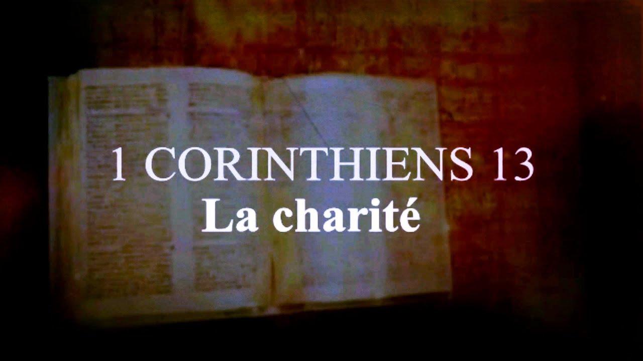 Favori La Bible - 1 CORINTHIENS 13 - La Charité (l'Amour de Dieu) - YouTube CG65