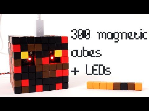 minecraft-magma-cube-made-from-tiny-magnetic-blocks-+-led-lights-(-voxel-art-project-asmr-style)