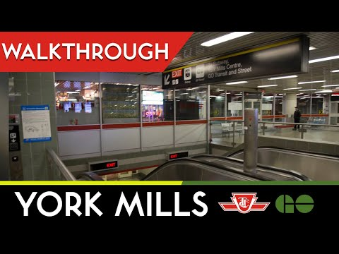 TTC/GO - York Mills Station Walkthrough