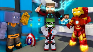 Monster School: WORK AT THE AVENGERS PLACE! - Minecraft Animation