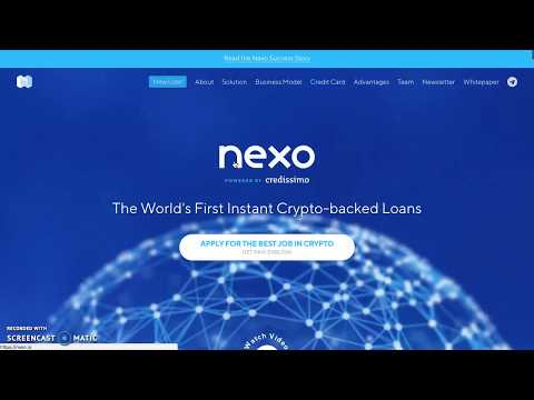 "*WIN 10ETH ""NEXO"" APPLY FOR $100K JOB! AMAZING LOAN PLATFORM - MAJOR PERKS! DON'T MISS THIS ONE!*"
