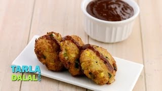 Cheesy Noodle Vegetable Cutlet By Tarla Dalal