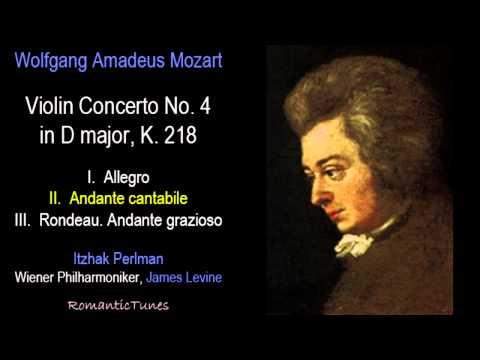 Mozart Violin Concerto No. 4 in D major, K. 218; Perlman, Levine, Vienna Phil.