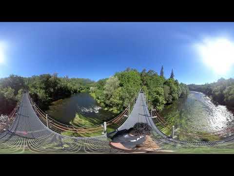 Vistas desde el puente colgante