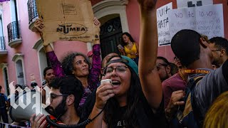 'Ricky resign!': Protesters call for resignation of Puerto Rico's governor amid chat scandal