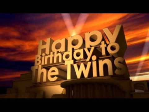 happy birthday twins images Happy Birthday To The Twins   YouTube happy birthday twins images
