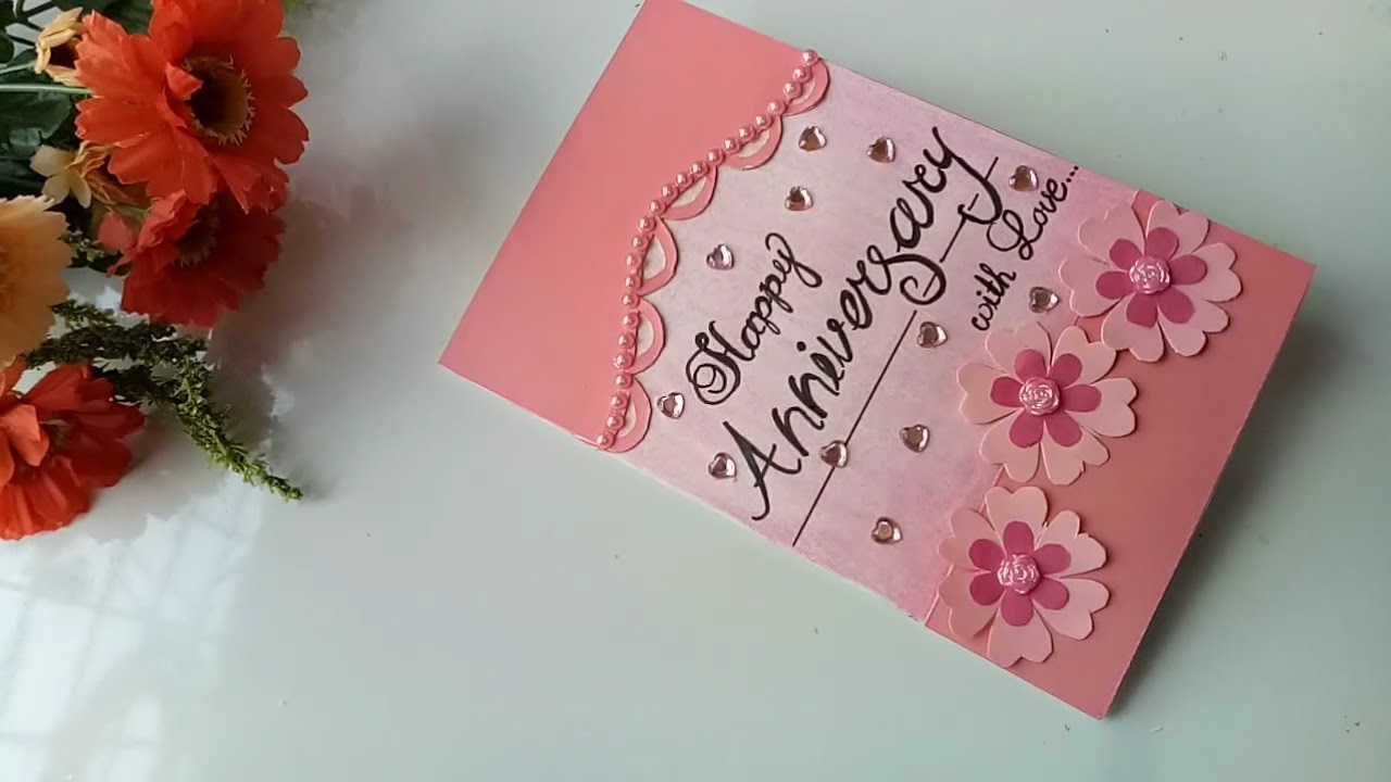 A beautiful greeting card for Anniversary\DIY-Anniversary ...
