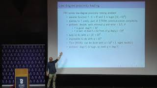 STARKs II -  Low Degree Testing Eli Ben Sasson Technion Cyber and Computer Security Summer School
