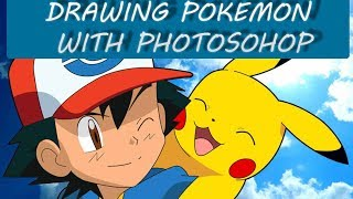 How to draw POKEMON WTTH PHOTOSHOP