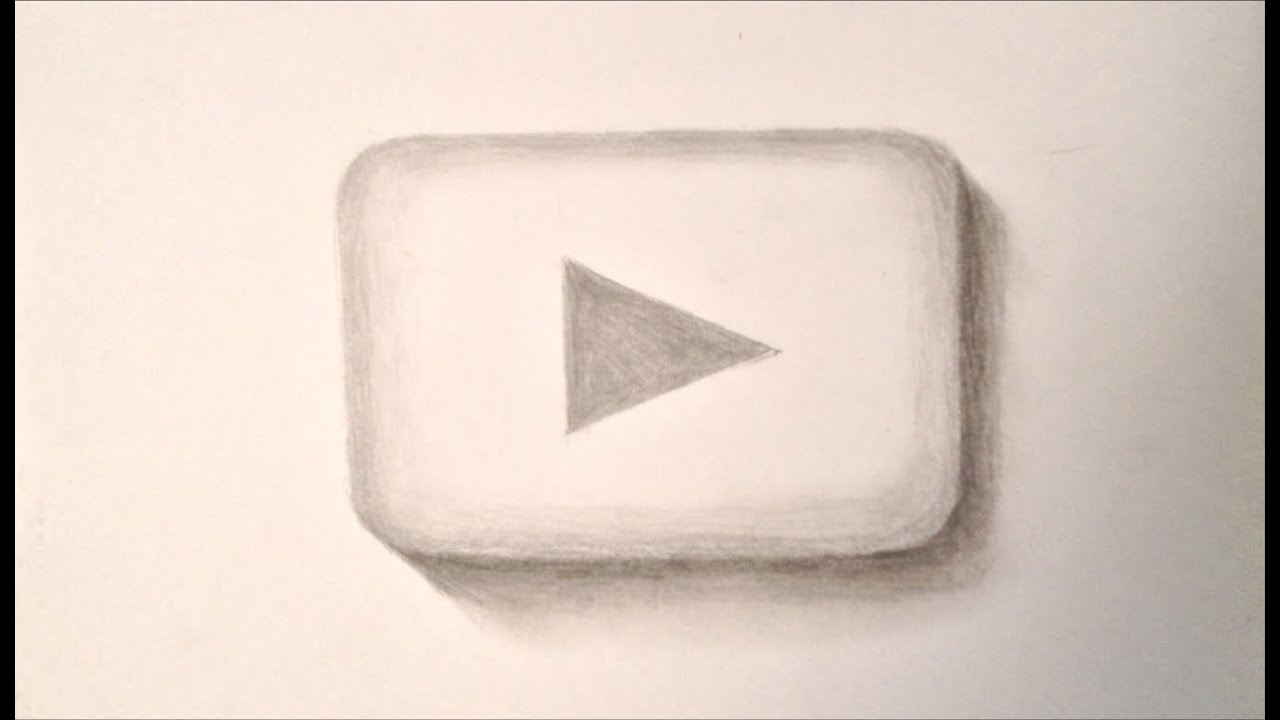 How To Draw 3d Art Play Button Youtube