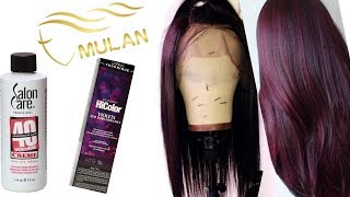 HOW TO COLOR A LACE FRONT WIG FAST | MULAN WIGS