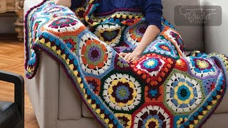 How to Crochet An Afghan: In Love with Colour Afghan