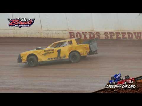 Winner - #1 Lamar Hughes - Street Stock - 9-8-18 Boyd's Speedway - In Car Camera